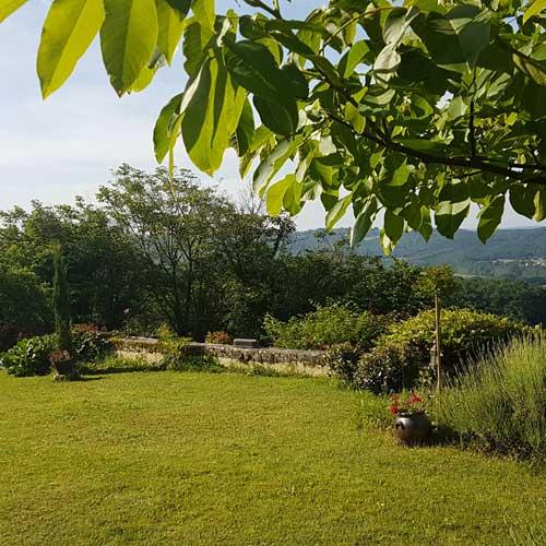 Jardin du séjour en amoureux en Dordogne