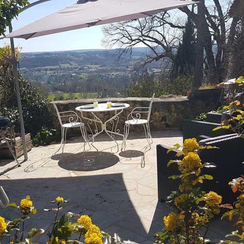 séjour en amoureux en Dordogne avec terrasse